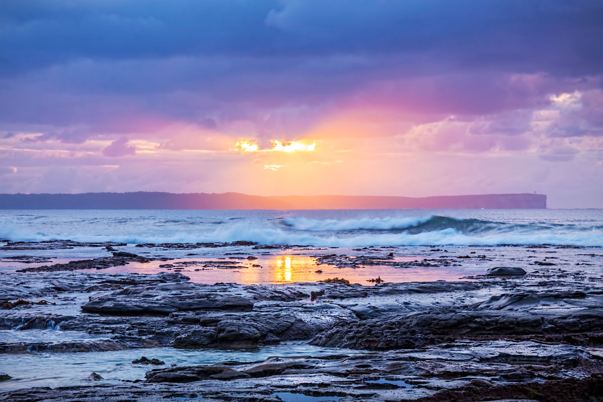 Breaking Through - Sunrise Jervis Bay NSW Australia